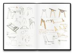 Croquis - Table design numérique MM par Alix Videlier
