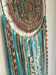 Large dreamcatcher,Hand Crocheted dreamcatcher, Wall Decor, Wall Hanging, Home decor, Wall Art
