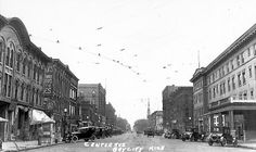 Bay City Center Ave.: Downtown Business District - 1930s/40s