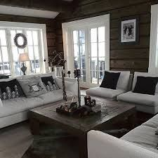 Sisustus Today there was a small change in the living room 😉 # cottage # Slettvoll Log Homes Exterior, Log Home Interiors, Log Cabin Homes, Home And Living, Cottage Living, Living Room Designs, Interior Design, House, Home Decor