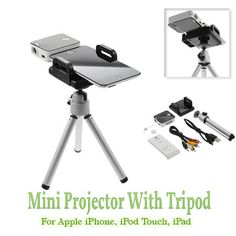 Mini Projector With Tripod For Apple iPhone, iPod Touch, iPad. $99.99