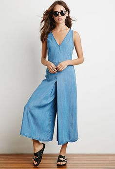 Denim Wide-Leg Jumpsuit | Forever 21 - 2000173348
