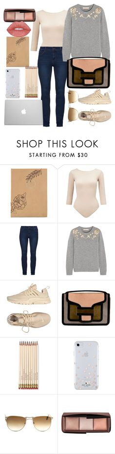 """""""classroom"""" by francymayoli ❤ liked on Polyvore featuring Fine & Candy, Miss Selfridge, Vanessa Bruno, NIKE, Pierre Hardy, Kate Spade, Persol and Hourglass Cosmetics"""