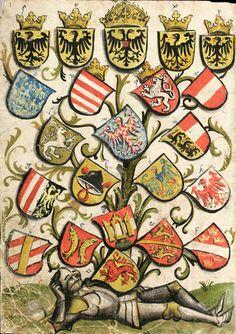«Wappenbuch von Hans Haggenberg» = Wappenbuch von St. Gallen (Haggenberg) = Codex Haggenberg), 1466-1470 [Cod. Sang. 1084] -- (f°1)