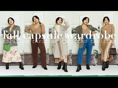 THRIFTED FALL CAPSULE WARDROBE | 10 pieces x 28 outfits #thriftedfashion - YouTube