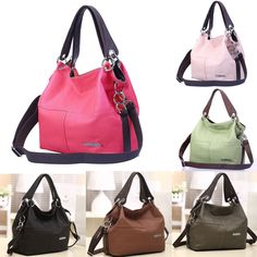 425ce4c7da Women Lady Satchel Handbag Faux Leather Shoulder Tote Messenger Crossbody  Bag #Unbranded #Shoulderbag Női