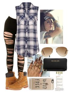 """Day Out"" by amuh2002 on Polyvore featuring WearAll, Timberland, Ray-Ban, Michael Kors and Casetify"