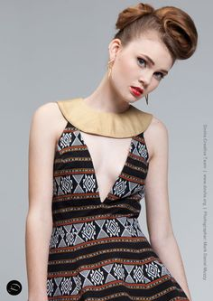 Portland Fashion Week Spring '14 Designer: Art Institute Student Designer Hair and Makeup: Dosha Creative Team