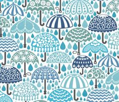 vintage brollies in downpour by: christinewitte