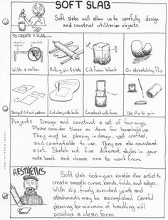 Handouts with Pottery project info and instructions.-licensed under an Attribution ShareAlike Creative Commons License.
