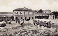 Stazione di Porta Genova anni 30   da Milàn l'era inscì