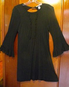 a66c0ecb8907 Kushcush, black, boho/peasant style, knee length, tunic, festival dress
