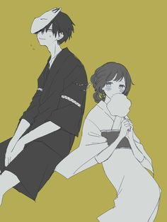 Rizengri - Back Anime Love, Anime Guys, Manga Anime, Character Art, Character Design, Anime Siblings, Cute Anime Coupes, Manga Couple, Anime Couples Drawings