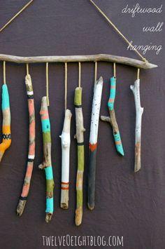 diy driftwood crafts - hanging