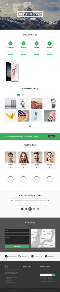 Ze is a professional creative multipurpose 8 in 1 #WordPress theme for business, portfolio, #agency, personal and eCommerce websites download now➝ https://themeforest.net/item/ze-responsive-creative-multipurpose-wordpress-theme/16054079?ref=Datasata