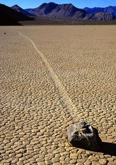 Mysterious Sailing Stones in Death Valley National Park.