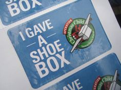 Operation Christmas Child- read this mom's experience in participating with her kids from start to finish with their shoe boxes.
