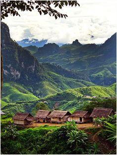 View from Kasi, Laos