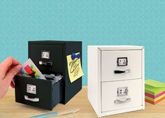 Mini business card filing cabinet