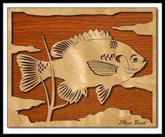 Unique Scroll Saw Patterns | it s fishing weather here in the states bluegill sometimes called brim ...
