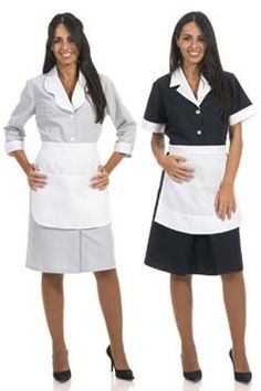 femme de chambre en uniforme - Google Search Hotel Uniform, Maid Uniform, Uniform Dress, Dress Suits, Maid Outfit, Maid Dress, African Wear, African Fashion, Nylons