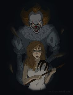 Here's the finished version of that sketch, hope you all like it :D Pennywise Film, Pennywise The Dancing Clown, Stephen Kings, Descendants, Dragon Ball Z, Horror Movies, Beauty And The Beast, Adult Coloring, Darkness