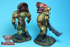 printed and painted Xochatl character models for ECHO-War Of The Ravaged, by Lloyd Chidgzey Character Modeling, War, Models, Superhero, Printed, Painting, Fictional Characters, Templates, Painting Art