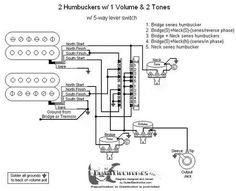 2 humbucker wiring diagram Humbucker Wire Color Codes