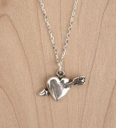 Heart & Arrow Silver Necklace