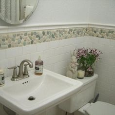 Pebble Tile More Tile Bathrooms Border Bathroom Pebble Tiles Bathroom .