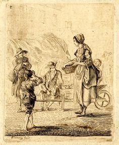 Etching printed in brownish ink Paul Sandby (circa) 18th Century Dress, 18th Century Costume, 18th Century Clothing, Art Eras, Portrait Art, Portraits, Old Master, French Art, Figure Studies