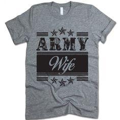 Army Wife T-shirt #army #army-shirt #army-t-shirt