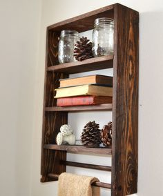 Rustic Bathroom Shelf, Rustic Shelving, Home Decor, Reclaimed Wood, Decorative Shelf on Etsy, $59.00