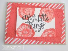 Stampin' Up!, ingridcardsandmore, Watermelon Wonder, Layering Love, Oh So Eclectic