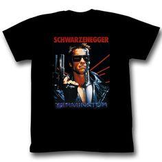Tee Shirts Men O-neck Tees American Classics Arnold Schwarzenegger Terminator Movie Black T-shirt Arnold Schwarzenegger, T Shirt Designs, Compression T Shirt, Movie Shirts, Mens Tee Shirts, American, Black Men, Graphic Tees, Mens Tops