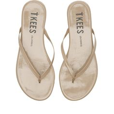 TKEES Sandals Shoes ($50) ❤ liked on Polyvore featuring shoes, sandals, tkees, rubber sole shoes, tkees sandals and tkees shoes