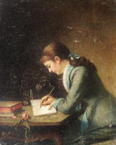 Artist Louise De Hem (1880). Théodore Ceriez (Belgian, Realism, 1831-1904). Oil on canvas. Stedelijk Museum Ieper. De Hem (Belgian, 1866-1922) was a painter and student of Ceriez. Ceriez painted of...