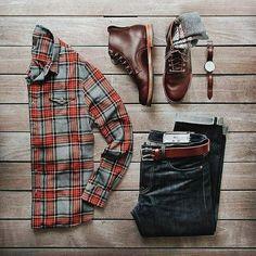 Une tenue workwear simple pour l'Automne, avec des couleurs qui réchauffent bien et des pièces increvables. Par @thepacman82 - JAMAIS VULGAIRE, blog mode homme, magazine et relooking online