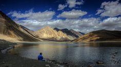 Pangong Lake, Himalayas.