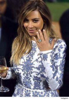 Kim Kardashian Engaged to Kanye West -- See the Ring!