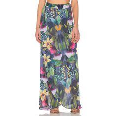 Trejoa Lorabe Maxi Skirt (140 AUD) ❤ liked on Polyvore featuring skirts, elastic waist maxi skirt, floor length skirts, transparent maxi skirt, long elastic waist skirt and long skirts