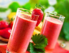 Heerlijke aardbeien smoothie!