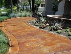 Acid Washed/stained Concrete For Pathway Outside.