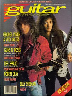 DOKKEN & WHITE LION (George Lynch & Vito Bratta) on the Cover of Guitar for the Practicing Musician