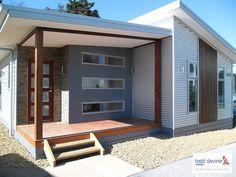 Exterior Ranch Remodel Stones 46 Ideas For 2019 Exterior Gris, House Exterior Color Schemes, Modern Exterior, Exterior Design, House Cladding, Facade House, Ranch Remodel, Shed Homes, Design Case