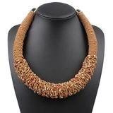 Bohemian Choker Handmade Woven Necklace – Anna Kay & Co. Rope Jewelry, Bohemia Style, Summer Necklace, Acrylic Beads, Ethnic Fashion, Fashion Necklace, Beaded Necklace, Chokers, Bohemian