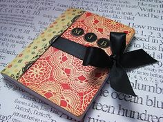 I wanted to pop in real quick before work and share with you an altered mini composition notebook I made the other ni. Composition Notebook Covers, Altered Composition Notebooks, Decorate Notebook, Diy Notebook, Easy Homemade Gifts, Diy Gifts, Homemade Planner, Bujo, Journaling