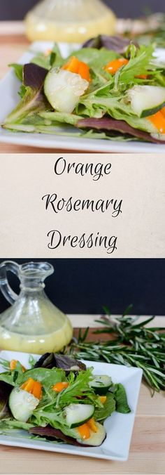 Orange Rosemary Dressing is a citrus based vinaigrette you can make in just minutes. Refreshing and perfect for summer this salad dressing recipe can be used on any salad (Favorite Recipes Butter) Clean Salad Dressings, Salad Dressing Recipes, Salad Recipes, Sandwich Recipes, Fruit Recipes, Savoury Dishes, Food Dishes, Mayonnaise, Butter