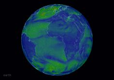 Earth: an interactive visualization of global weather conditions forecast by supercomputers updated every three hours