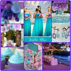 93 best Purple & Teal or Turquoise Blue Wedding Theme images on ...